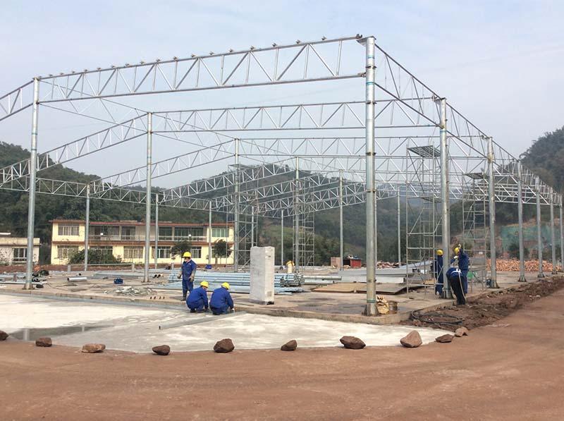 贵州赤水-生活垃圾水选资源化处理钢结构施工项目
